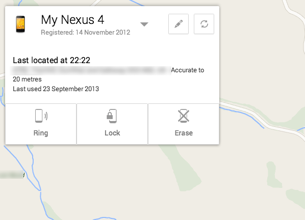 Android Device Manager example