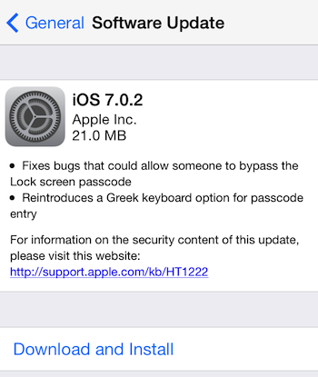 iOS 7.02 update